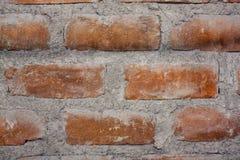 砖肮脏的墙壁  免版税库存照片