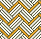 砖背景样式黄色和绿色 库存照片