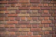 砖色的多墙壁 库存图片