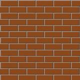 砖色的纹理墙壁 向量例证