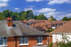 砖英国红色郊区 免版税库存图片