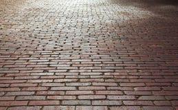 砖街道 免版税库存图片