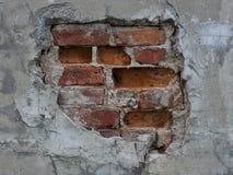 砖被中断的墙壁 免版税图库摄影