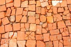 砖被中断的红色 免版税图库摄影