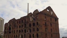 砖被毁坏的房子 股票录像
