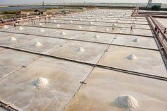 砖被编译的平底锅盐台南台湾瓦片是 免版税库存照片