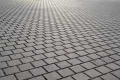 砖被铺的城市广场 图库摄影