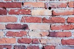 砖被风化的难看的东西墙壁背景或纹理 免版税库存照片