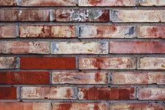 砖详细资料老被绘的墙壁 库存照片