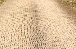 砖路 免版税库存照片