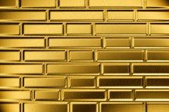 砖金黄墙壁 免版税库存图片