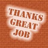砖钢印感谢 免版税库存图片