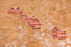 砖隐藏的墙壁 库存图片