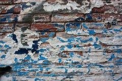 老难看的东西砖墙 库存照片