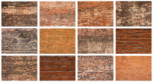 砖集合墙壁 图库摄影