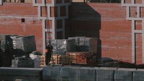 砖高层建筑物的建筑 影视素材