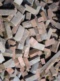 砖,在另外看法的石头 免版税图库摄影