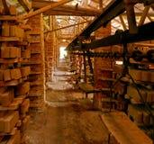 砖,砖工厂 免版税库存图片