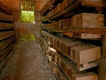 砖,砖工厂 图库摄影