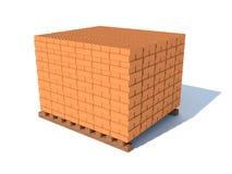 砖,隔绝在白色 库存图片