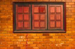 砖阻拦背景 免版税库存照片