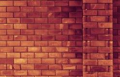 砖阻拦背景 免版税库存图片