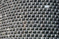 砖castello sforzesco墙壁 免版税库存图片