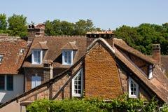 砖gerberoy房子木材 免版税库存照片