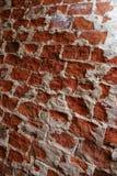 砖grunge红色墙壁 库存照片