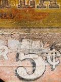 砖grunge红色墙壁 库存图片
