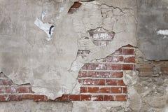 砖grunge老膏药墙壁 免版税库存图片