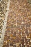 砖varano borghi街道伦巴第意大利 图库摄影