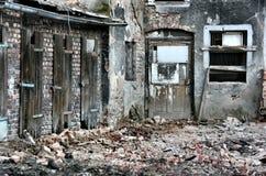 破坏都市 库存照片
