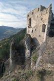破坏Lietava城堡  免版税图库摄影