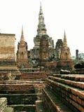 破坏sukhothai寺庙 库存图片