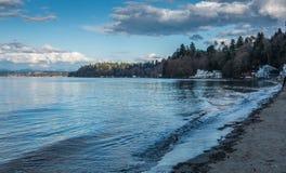破折号点海岸线风景 库存照片