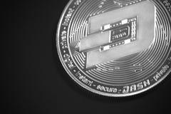 破折号硬币 图库摄影