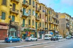 破旧的大厦在开罗,埃及 免版税库存图片