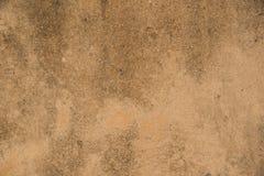破旧的橙红具体石墙纹理 库存照片