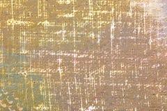 破旧的浅褐色的手画丙烯酸酯的帆布纹理 库存图片