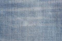 破旧的蓝色牛仔裤纹理 牛仔布织品背景 库存图片