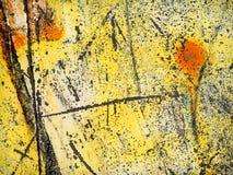 破旧的黄色油漆 免版税库存图片