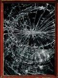 破碎玻璃或镜子 免版税库存照片