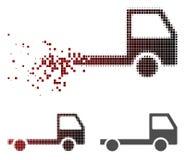破碎的被加点的半音卡车底盘象 库存例证