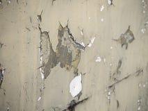 破裂和削皮油漆和难看的东西老墙壁有纹理的 图库摄影