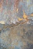 破裂和削皮油漆老墙壁背景 经典难看的东西 库存图片