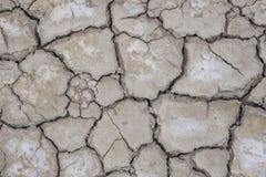 破裂和旱田地面 免版税库存图片