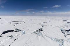 破裂的冰川 库存图片