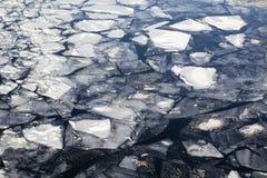 破裂的冰模式 免版税库存图片