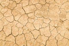 破裂的土壤地面纹理 免版税库存照片